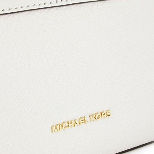 Michael Kors Rosalie 30S6GS5C3L Damen Tasche Handtasche Henkeltasche Abendtasche Schultertasche Umhängetasche Clutch Optic White