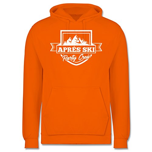 Après Ski - Aprés Ski Party Crew - Herren Hoodie Orange