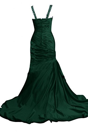 Sunvary Sweetheart Lace-up con strass, increspata Evening Gowns Verde lime