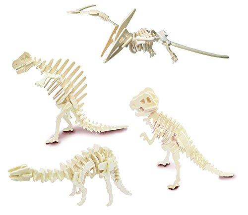 Conjunto de los dinosaurios 4 - QUAY de artesanía en madera Kit de construcción FSC