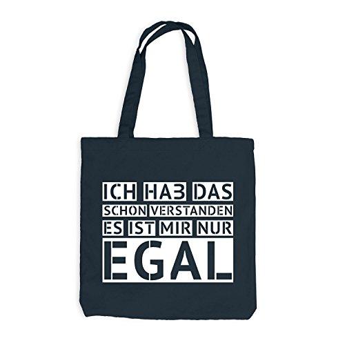 Jutebeutel - Ich hab das schon verstanden - EGAL - Fun Style Design Dunkelgrau
