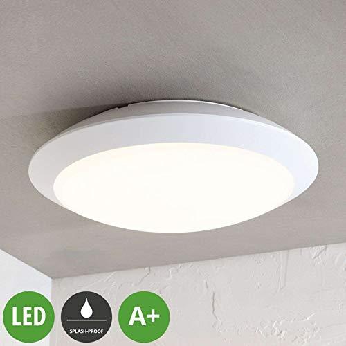 Lampenwelt LED Deckenleuchten 'Naira' (Modern) in Weiß (1 flammig, A+, inkl. Leuchtmittel) - Außenleuchte für Garten, Terasse, Balkon & Haus, LED-Deckenleuchte
