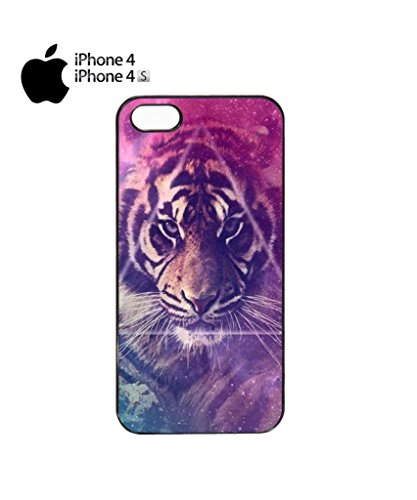 Galaxy Tiger Animal Leopard Pattern Cool Funny Hipster Swag Mobile Phone Case Back Cover Hülle Weiß Schwarz for iPhone 5&5s White Schwarz