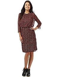 1e2dea78 Principles Petite By Ben De Lisi Womens Dark Red Printed Petite Dress
