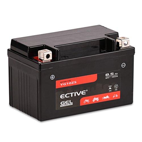 ECTIVE 12V 8,5Ah Gel Motorradbatterie YTZ10-S : 5Ah - 21Ah (absolut wartungsfrei)