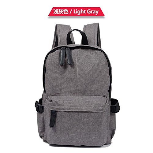Meoaeo Schultasche Schultertasche Canvas Freizeit Tasche Fashion Institute light gray
