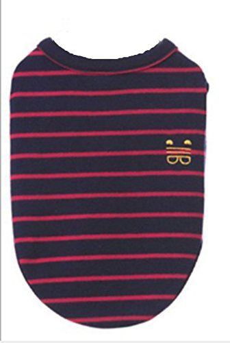 ZAMAC-Spring New Stripe Primer Teddy Bear Cotton Stretch Sweater Pet Supplies Dog T-Shirt - Spring Primer