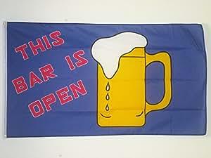 DRAPEAU BAR OUVERT 150x90cm - DRAPEAU ALCOOL - OPEN BAR 90 x 150 cm - DRAPEAUX - AZ FLAG