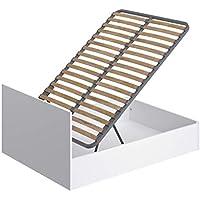 Movian -  Cadre de lit double avec coffre Idro Modern, 190 x 140 x 80, Blanc