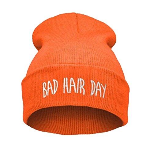 Modelli-Esplosione-Cap-Marea-Giorno-Capelli-Testa-Bad-Hip-Hop-Berretto-Di-lana-Manica-Freddo-Maglia-Cappello-Di-Moda-Per-Donna-Inverno-Vuoto-Capelli-Cappello-Accessori-Cerchietti-Arancio