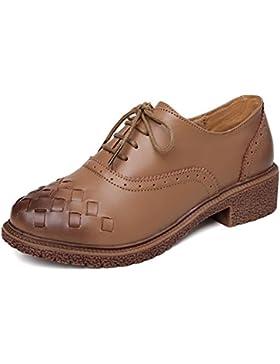 Scarpe Donna Di Stile Britannico,Leather Scarpe Tacco Piatto,In Pelle Scarpe Da Donna,Rough Con Scarpe Retrò