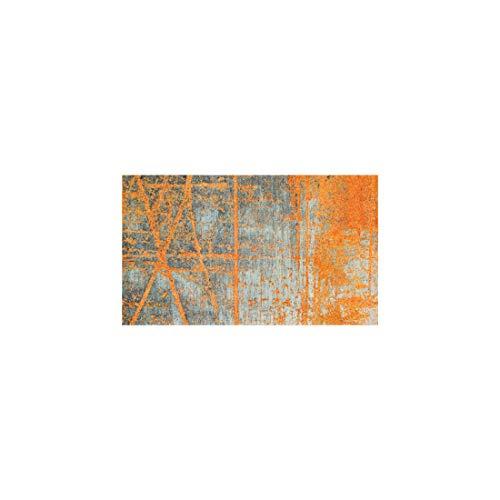 wash+dry Rustic Fußmatte, Acryl, orange, 70 x 120 x 0.9 cm