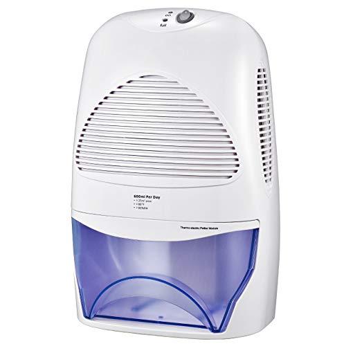 ikich deumidificatore con 2000ml serbatoio d'acqua per eliminazione umidità eccessiva da camere, ufficio di medie dimensioni o più piccoli, camere da letto, bagno, lavanderia, guardaroba, basement