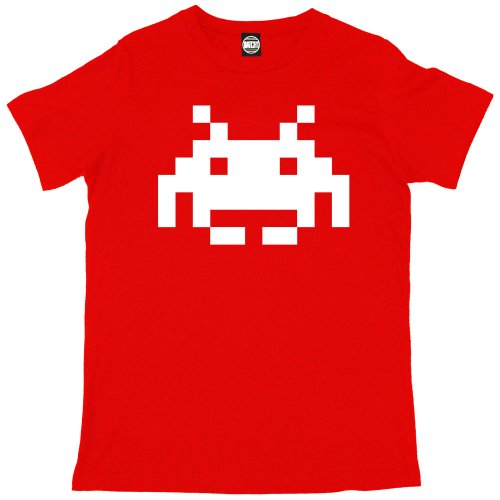 Men's Space Invader T-shirt, many colours - S to XXL