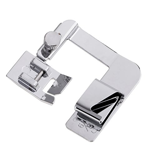 Phenovo Stainless Steel Wide Rolled Hem Foot Sewing Machine Presser Foot Set Fit Singer Brother More Domestic Machines 19mm / 13mm - silver, 19mm