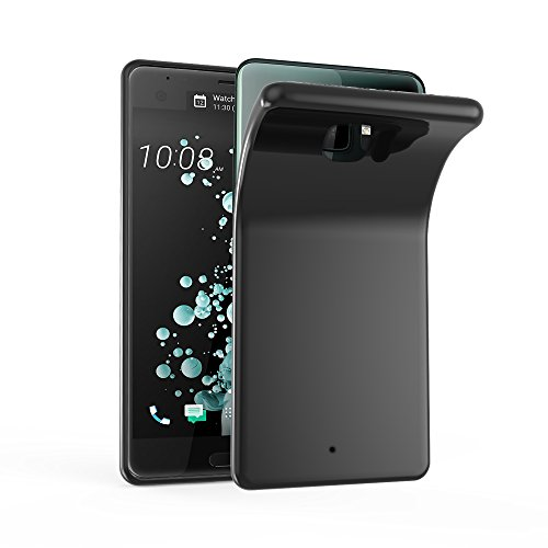 Cadorabo Hülle für HTC U Ultra - Hülle in SCHWARZ - Handyhülle aus TPU Silikon im Ultra Slim 'AIR' Design - Silikonhülle Schutzhülle Soft Back Cover Case Bumper Schwarz Soft Case