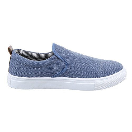 Sneaker Claro Têxtil Azul Escorregar Chinelo Para Homens Feito De OYqxwOFZUp