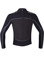 Manga larga Santic invierno polar Jersey térmico para hombres, hombre, color Negro - negro, tamaño small