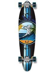 Yocaher monopatín completa Kicktail Longboard 70's forma de onda Graphic W/71mm ruedas, Wave