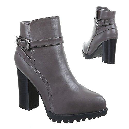 Chaussures, bottines b12211 Gris - Grau 1189-GA
