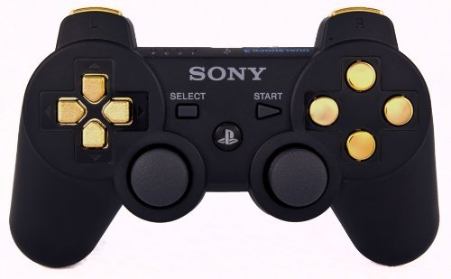 ps3-playstation-3-black-gold-modded-controller-rapid-fire-cod-ghosts-black-ops-2-jitter-drop-shot-au