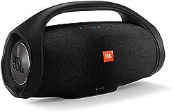 JBL Boombox - Wasserdichter Bluetooth-Lautsprecher mit integrierter Powerbank - Bis zu 24 Stunden Musikgenuss mit nur einer Akku-Ladung - Kabelloses Musikstreaming Schwarz