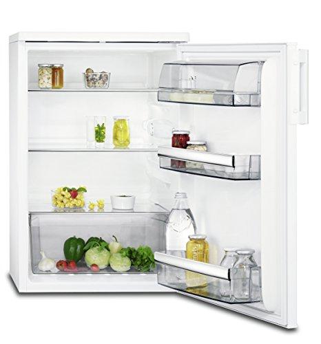 AEG RTB81521AW Kühlschrank mit Glasablagen / freistehender Kühlschrank ohne Gefrierfach / 150 Liter Kühlraum / Abtauautomatik / energieeffizienter Kühlschrank der Klasse A++ (94 kWh/Jahr) / abgerundetes Design / Höhe: 85 cm / weiß Fach Für Gefriertruhe