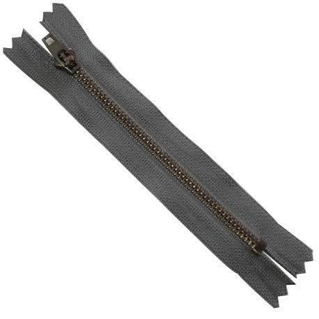 Waden-reißverschluss (Waden-Reissverschluss: 15 cm, Farbe: grau, Jeans Hose)