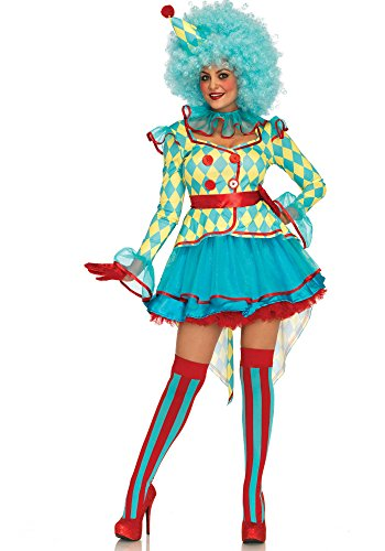 Leg Avenue LO85637 Carnival Clown Kostüm, Vielfarbig, Medium (EUR 38)