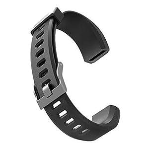 DeYL Suave Pulsera de Silicona Correa de Reloj de Identificación para 115Plus HR Pro Lite - por Identificación 115Plus HR/Pro/Lite Negro 5