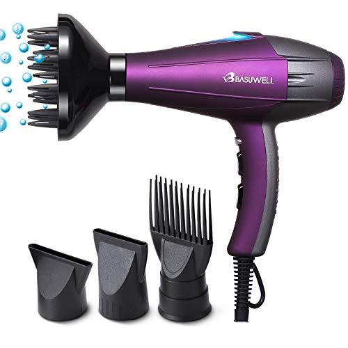 Basuwell Sèche Cheveux Professionnel 2100W, Ionique/Infrarouge Iointain Salon Sèche-Cheveux avec...