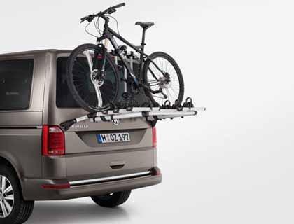 Preisvergleich Produktbild VW Fahrradträger für die Heckklappe,  max. 4 Fahrräder,  max. 70 kg - 7E0071104
