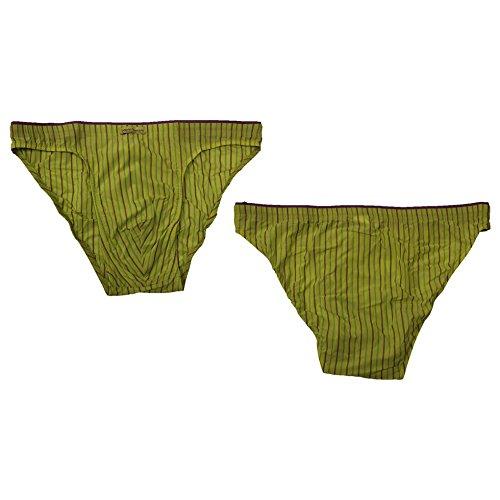 Bruno Banani Herren Tanga Pusher lime stripes (Größe: XL)