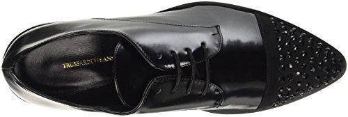 Trussardi Jeans 79s30151, Chaussures à Lacets Femme, 36 EU Noir