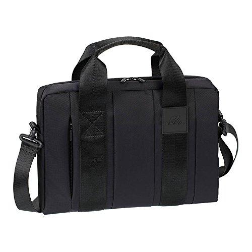 """RIVACASE Laptoptasche bis 13.3"""" – Schlanke Tasche mit extra gepolsterten Fächern und sehr schönen Design – Schwarz"""