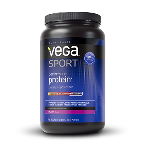 Vega (Sequel) Naturals, Sport, Protéine de performance à base de plantes naturelles , Berry, 28.8 oz (818 g)