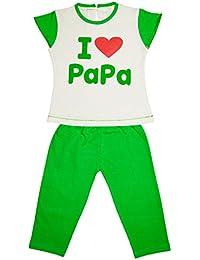 Myfaa Baby Girl's Printed Top & Pyjama Set