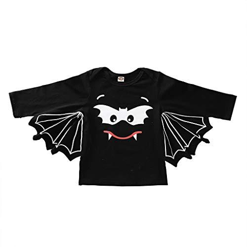 Writtian Neugeborenes Kleinkind bat Jumpsuit Kinder Halloween Kostüm Motiv Baby Overalls | Jungen Mädchen Neugeborenes Strampler Toddler Halloween Langarm Bodysuit