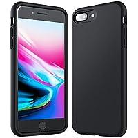 iPhone 8 Plus 7 Plus Hülle [Unterstützt kabelloses Laden (Qi)] Anker KRARPAX Silk Case Hülle aus Silikongel, Stoßfest Gummiert, Passgenau für iPhone 8 Plus (2017) / iPhone 7 Plus (2016) - schwarz