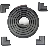 Tritina Corner Guards and Edge bumpers - 2.2m / 7ft [ 6.5ft Edge Cushion + 4 Corner Cushion] Premium Childproofing Protector, Child Safety, Home Safety Mamami (Black)