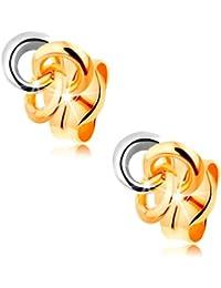841a524f2651 Amazon.es  Oro bicolor - Pendientes   Mujer  Joyería