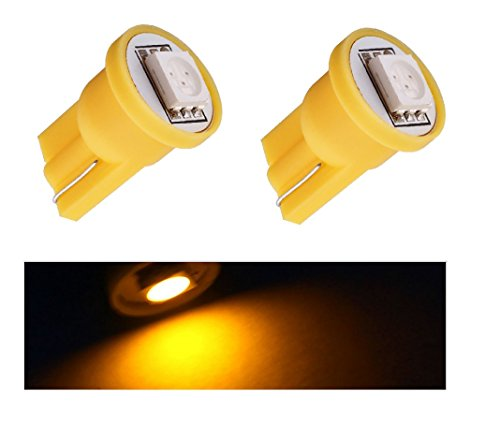 2 Feux de position lED jaune T10 SMD 5050 Ampoule Voiture 6000 K 12 V Yellow