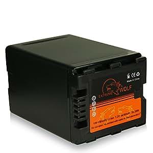 Power Batterie VW-VBN390 pour Panasonic Camcorder HDC-SD800 | HDC-SD900 | HDC-SD909 | HDC-TM900 | HDC-HS900 | HC-X800 | HC-X900 | HC-X900M | HC-X909 | HC-X910 | HC-X920 | HC-X920M