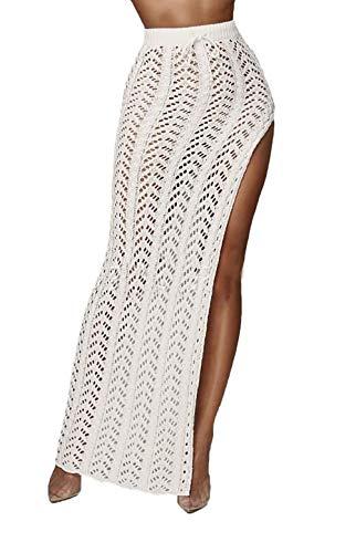 4ccd9650fa Faldas Mujer Largos Slim Fit Fashion Abiertas Hueco Falda Maxi Mode De  Marca Vintage Cintura Alta