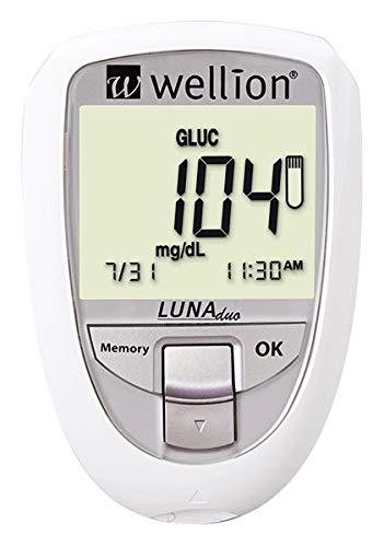 Wellion LUNA Duo Blutzuckermessgerät Set weiß mmol/L