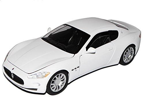 Motormax Maserati GT Gran Turismo Coupe Weiss Ab 2007 1/24 Modell Auto mit individiuellem Wunschkennzeichen