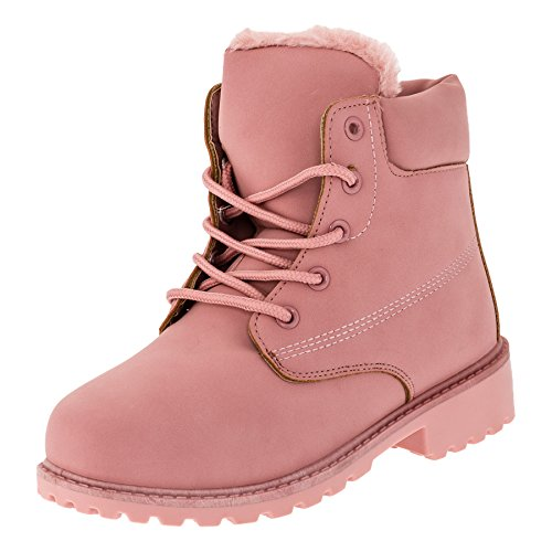 Gefütterte warme Jungen oder Mädchen Classic Boots Stiefel in vielen Farben #270rs Rosa Gr.35