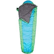 Explorer Junior 4630 - Saco de dormir para nio, 170 x 70 x 50 cm, color azul y verde