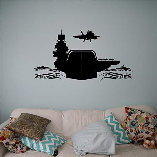 yaoxingfu Luftfahrtunternehmen Vinyl Aufkleber Air Force Wandaufkleber Flugzeuge Army Home Wall Interior Schlafzimmer Dekor Wandgrafikkarte Farbe 45 x 88 cm