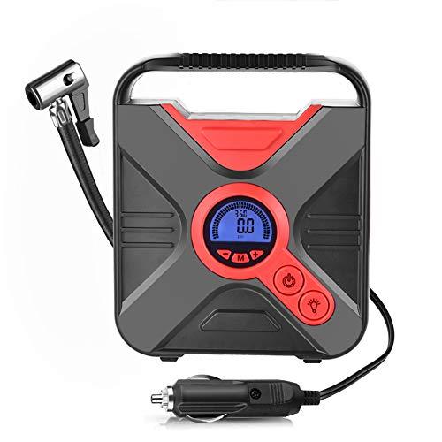 TinMiu Auto Kompressoren Luftpumpen,12V DC Tragbarer Elektrischer Reifen Air Compressor mit LED Digitalanzeige für Autos, Fahrräder und Basketbälle